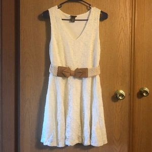 Rue21 white dress with belt